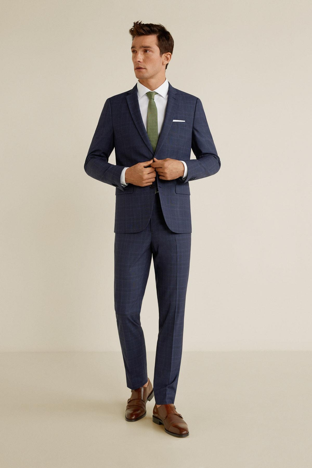 MANGO Man Erkek Lacivert Pantolon 43020503 1