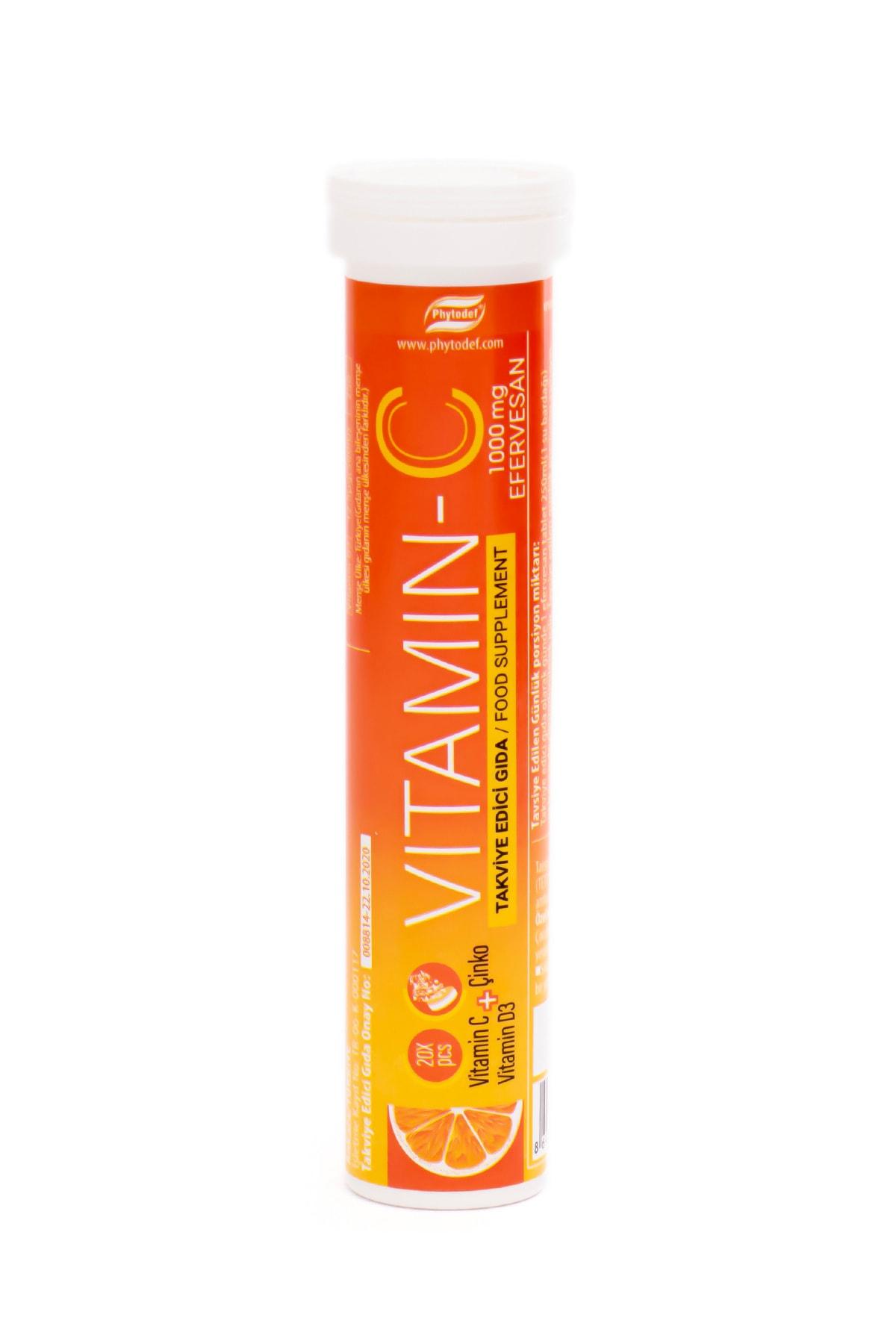 Phytodef Vitamin C ve Çinko Vitamin D3 20 Efervesan Tablet 2
