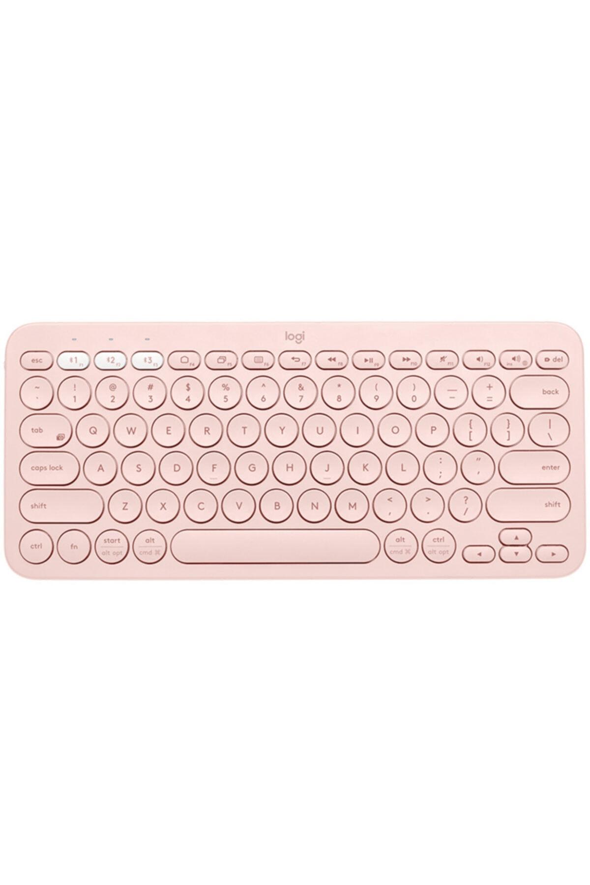 logitech K380 Multi-device Bluetooth(R) Türkçe Q Klavye-gül 920-010067 1