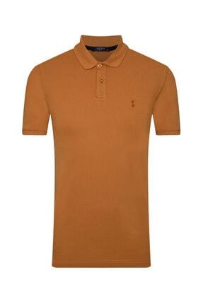 SÜVARİ Erkek Açık Turuncu Slim Fit Polo Yaka  Tişört