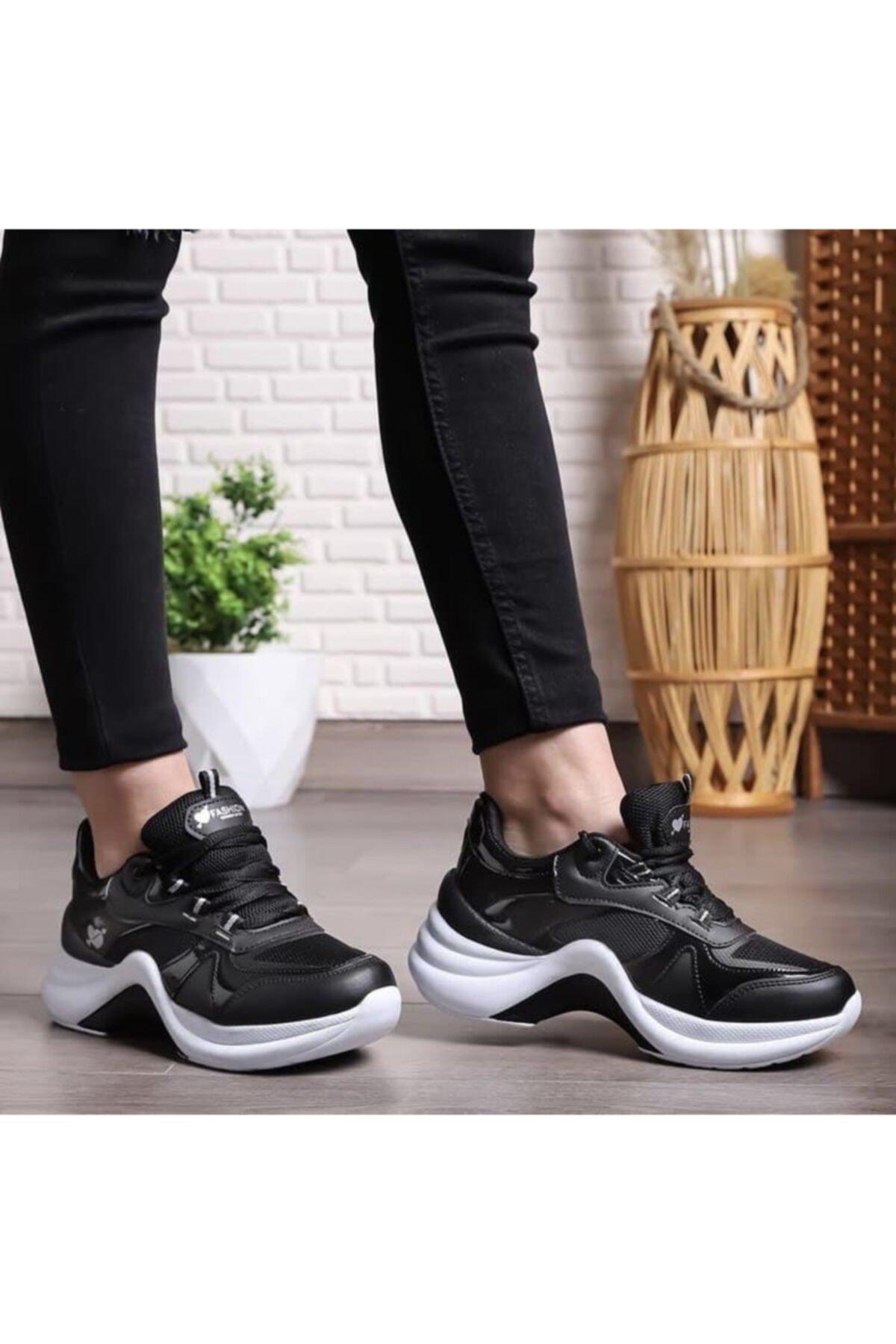 Twingo Kadın Siyah Beyaz Sneaker Ayakkabı 2