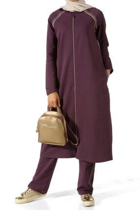 ALLDAY Kadın Üzüm Şeritli Uzun Eşofman Takımı