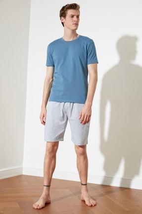 TRENDYOL MAN Mavi Örme Pijama Takımı THMSS21PT0330