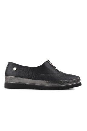 Pierre Cardin Kadın Siyah Düz Loafer Ayakkabı 51226