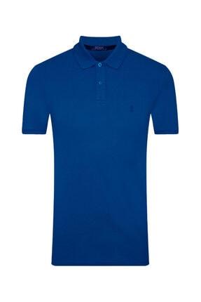 SÜVARİ Erkek Mavi Slim Fit Polo Yaka T-shirt