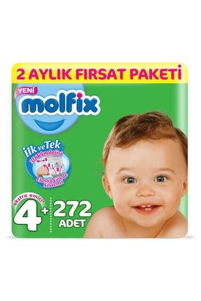 Molfix Bebek Bezi 4+ Beden Maxi Plus 2 Aylık Fırsat Paketi 272 Adet