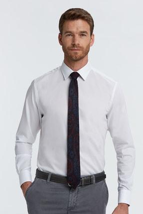 Hemington Erkek Beyaz Kuş Gözü Dokulu Non-ıron Business Gömlek