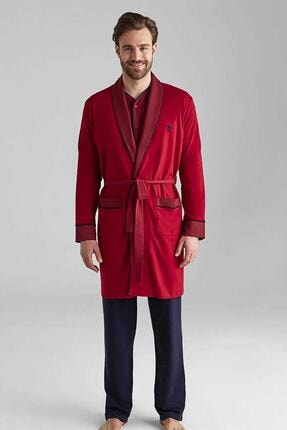 U.S. Polo Assn. Erkek Bordo Damat Çeyiz Pijama Takımı Robdöşambır 12001