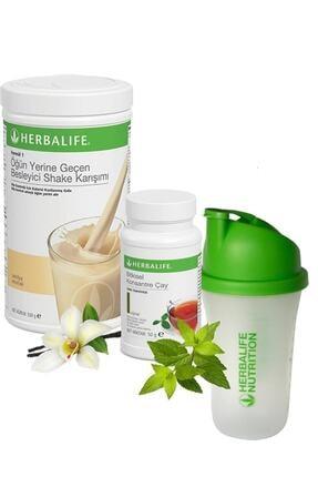 Herbalife Shake Vanilya 550 gr + Çay Klasik 50 gr + Shaker