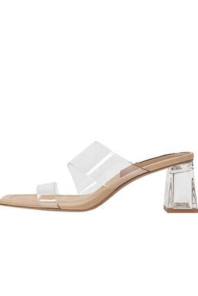 Stradivarius Kadın Vinil Topuklu Sandalet