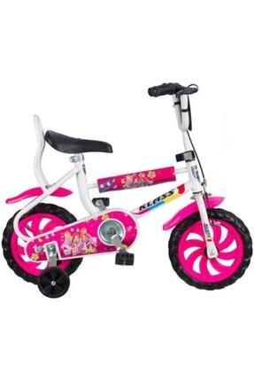 Klas 12 Jant Çocuk Bisikleti Dolgu Teker 2-3-4 Yaş Çocuk Bisikleti Pembe