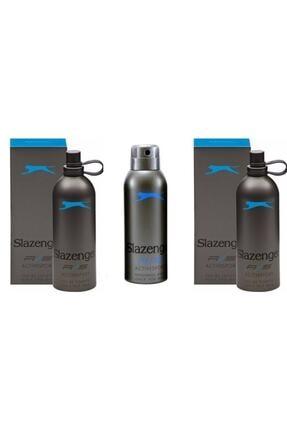 Slazenger Active Sport Mavi Edt 125 ml Erkek Parfümü 2 Adet Parfüm 1 Deo Seti 86905872010010