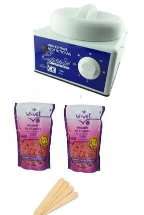 Vi-vet Sir Ağda Makinesi + 2 Adetpudralı Soyulabilen Boncuk Ağda + Spatula Seti