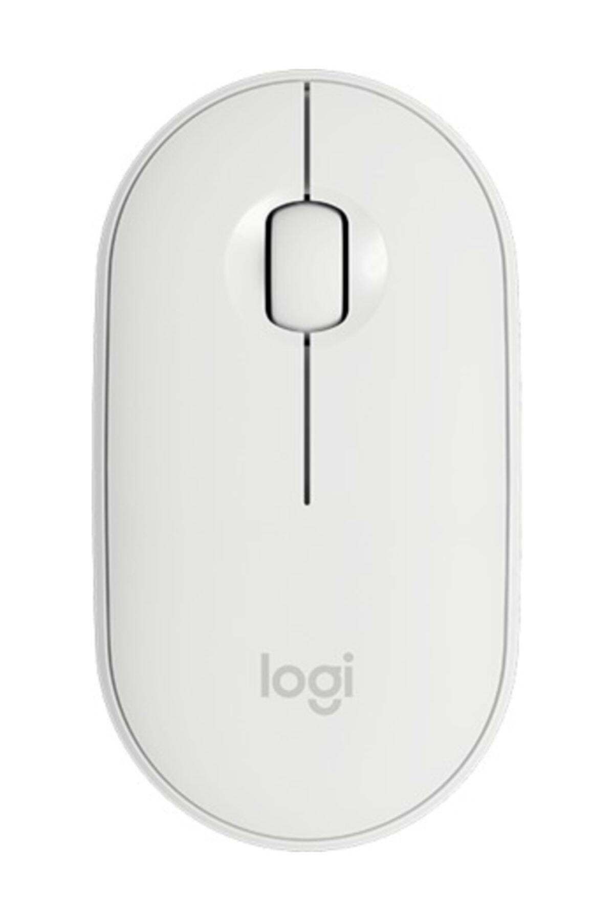 logitech Beyaz Pebble M350 Kablosuz Bluetooth Mouse 1