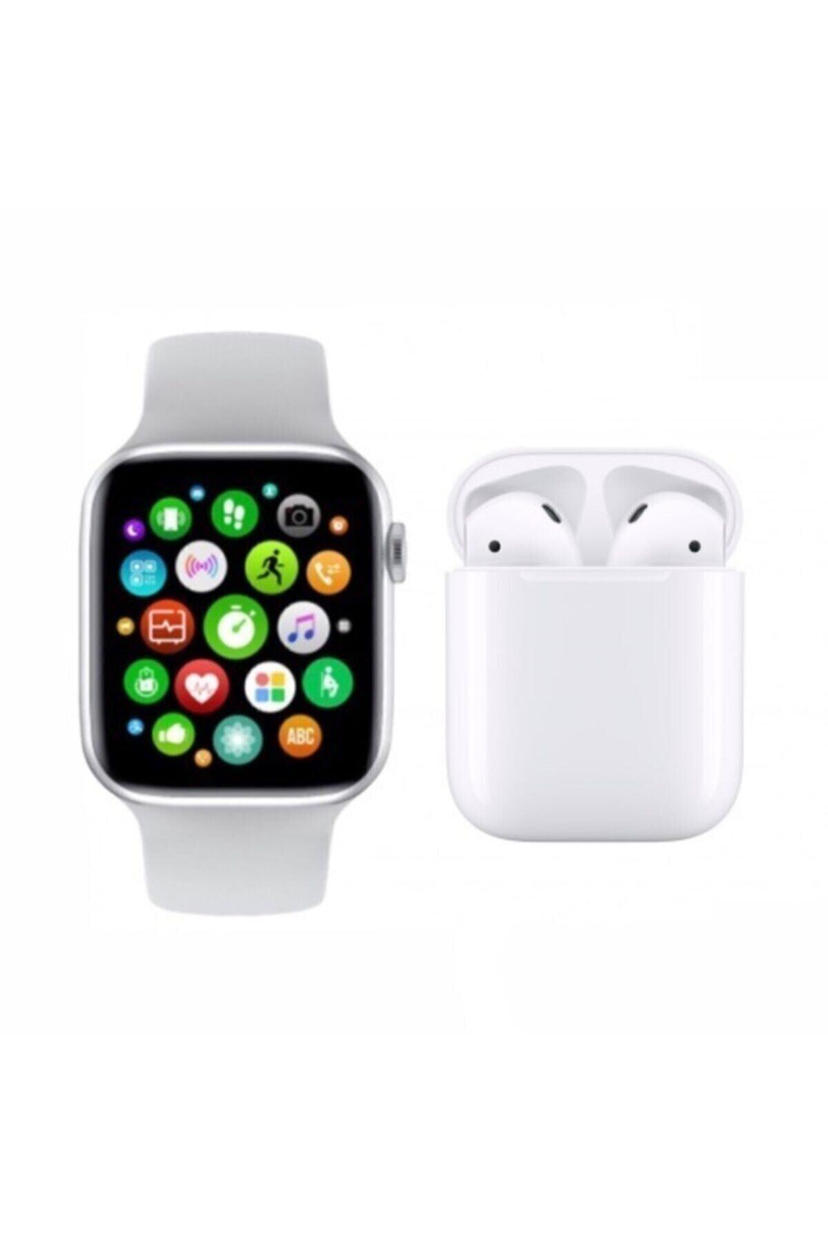 SmartWatch Akıllı Saat Smart Watch T500 + Airpods 12 Kablosuz Kulaklık 2'li 1