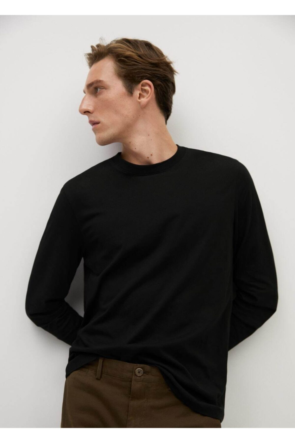 MANGO Man Uzun Kollu Pamuklu Gömlek 1