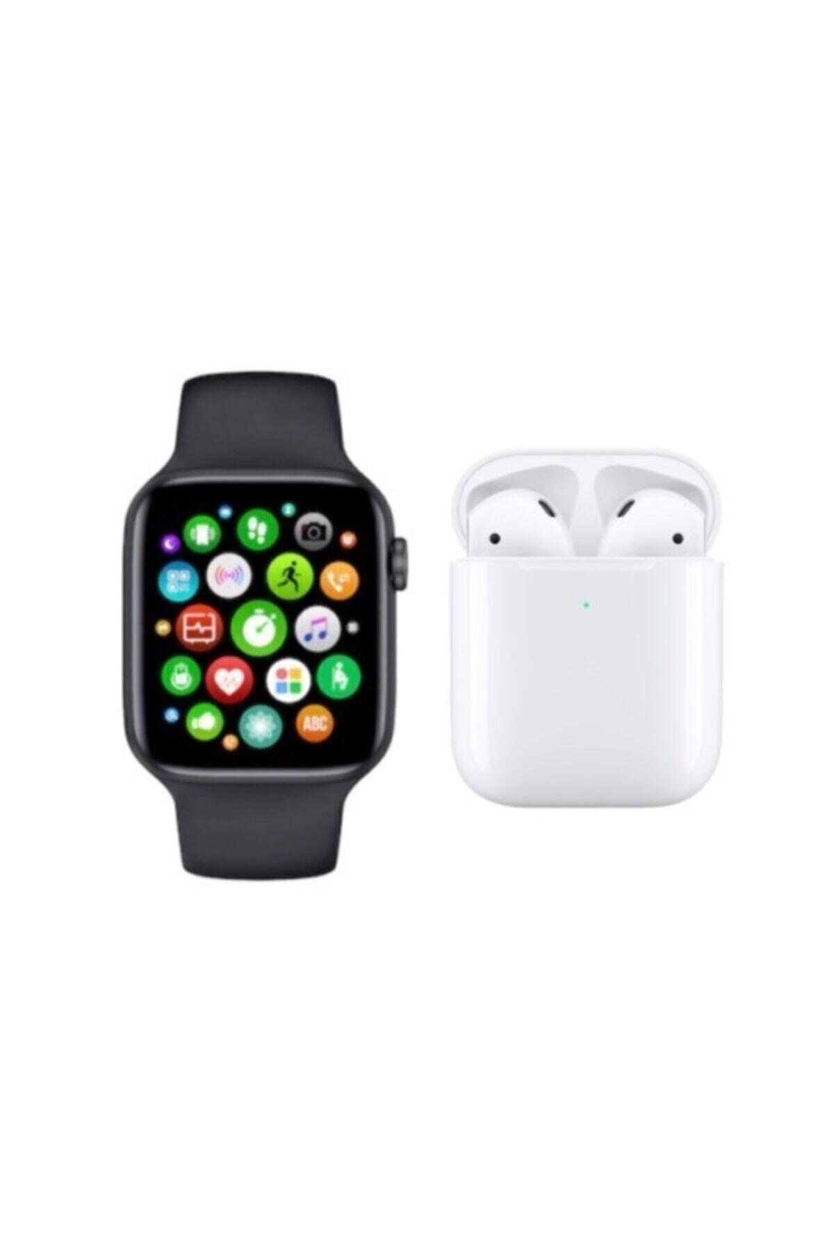 SmartWatch W26 Smart Watch 6 Akıllı Saat + Airpods I12 Kablosuz Kulaklık 1