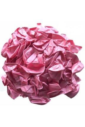EXİZTİCARET Pembe Metalik Sedefli Helyum Gazına Uyumlu Uçan Balon 50 Adet