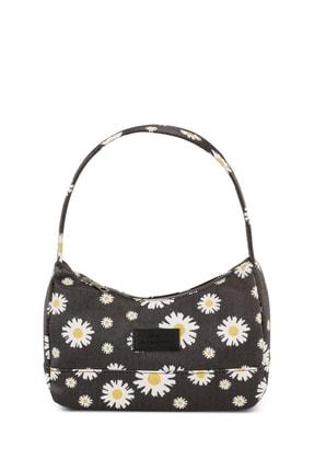 Housebags Kadın Haki Çiçekli Baguette Çanta 197