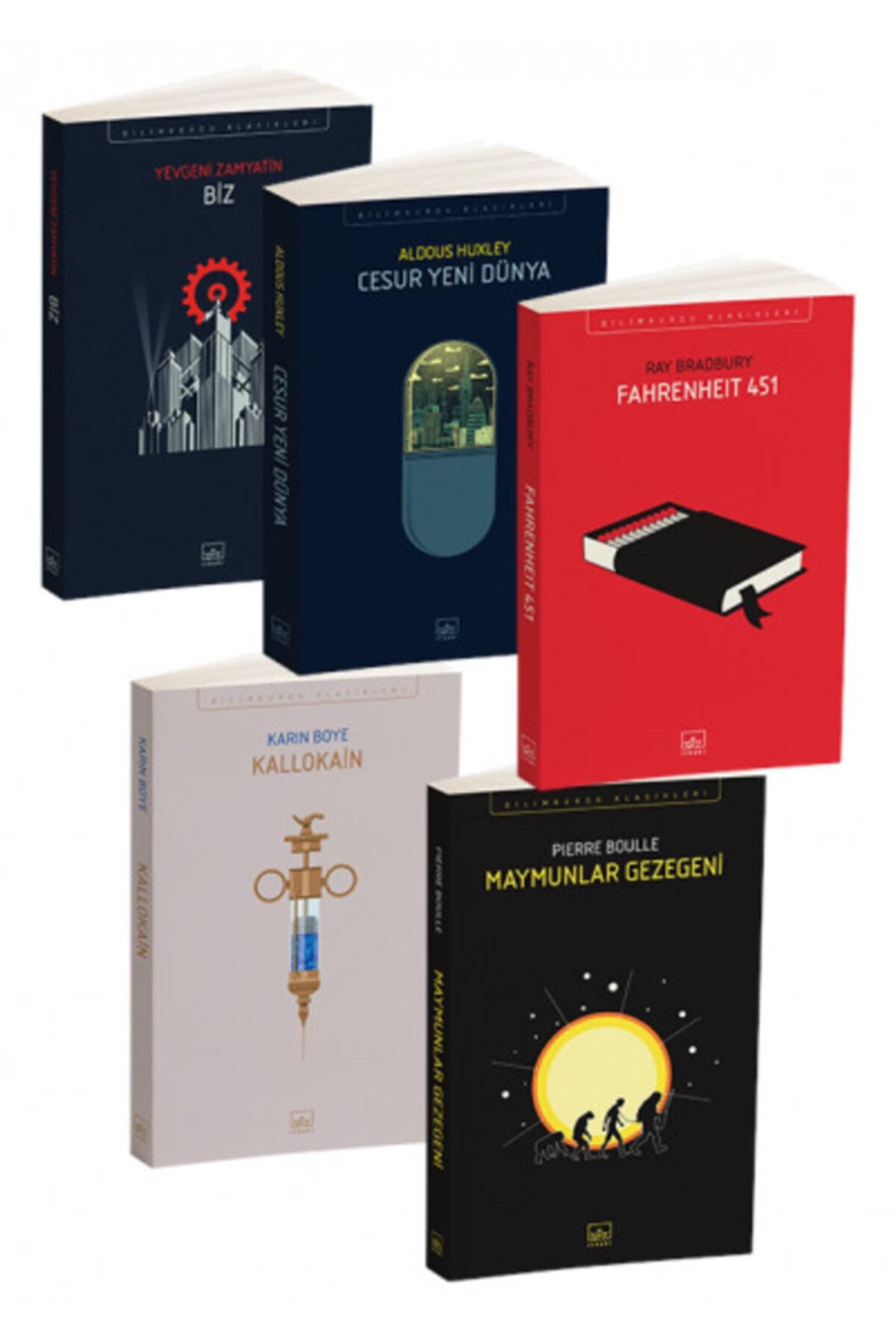 İthaki Yayınları Distopya Seti Biz Kallokain Cesur Yeni Dünya Fahrenheit 451 Maymunlar Gezegeni 1