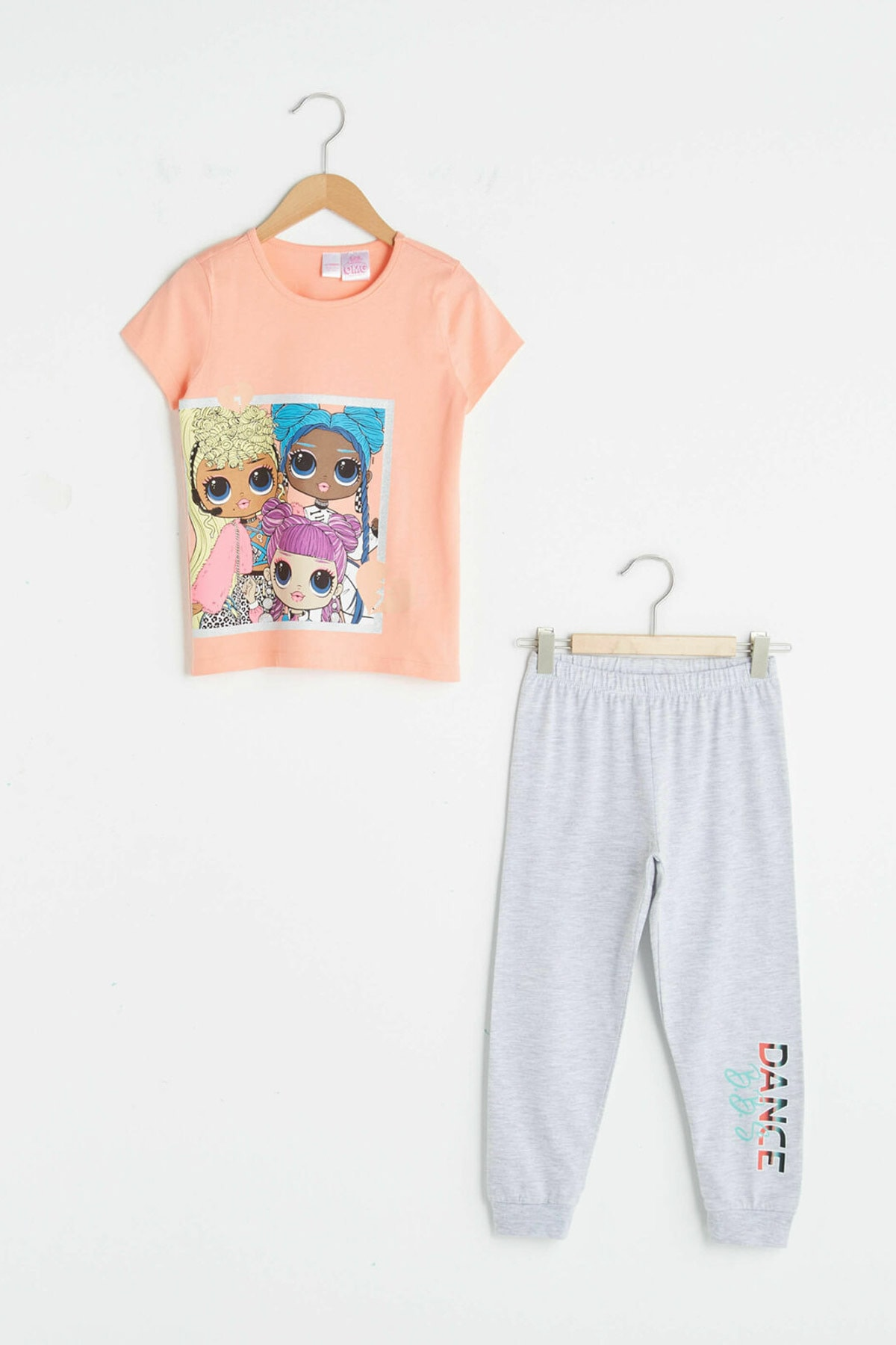 LC Waikiki Kız Çocuk Mercan Fmf Pijama Takımı 1