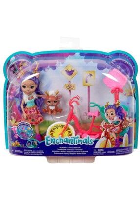 Enchantimals Bebek Ve Aracı Oyun Seti Bisikletli Dostlar