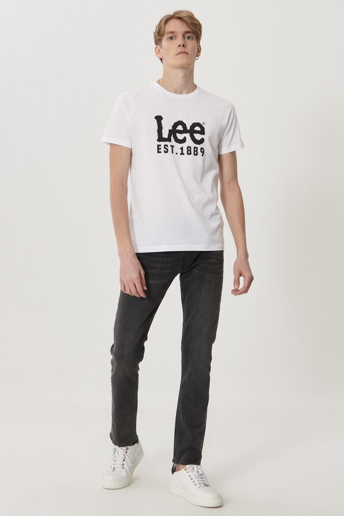 Lee Luke Erkek Antrasit Slim Tapered Düşük Bel Dar Paça Esnek Jean Pantolon