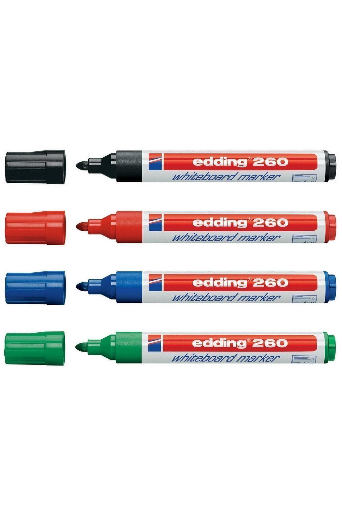 Edding 260 Beyaz Yazı Tahtası Kalemi 4'lü Set 1