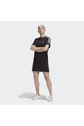 adidas Kadın Siyah Adicolor Classics Roll-Up Sleece Elbise