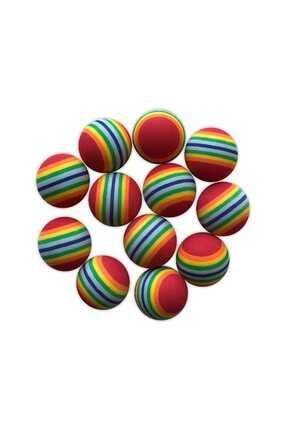 Dr. Sacchi Kedi Oyuncağı Renkli Yumurta 12'li Set 3.8 Cm
