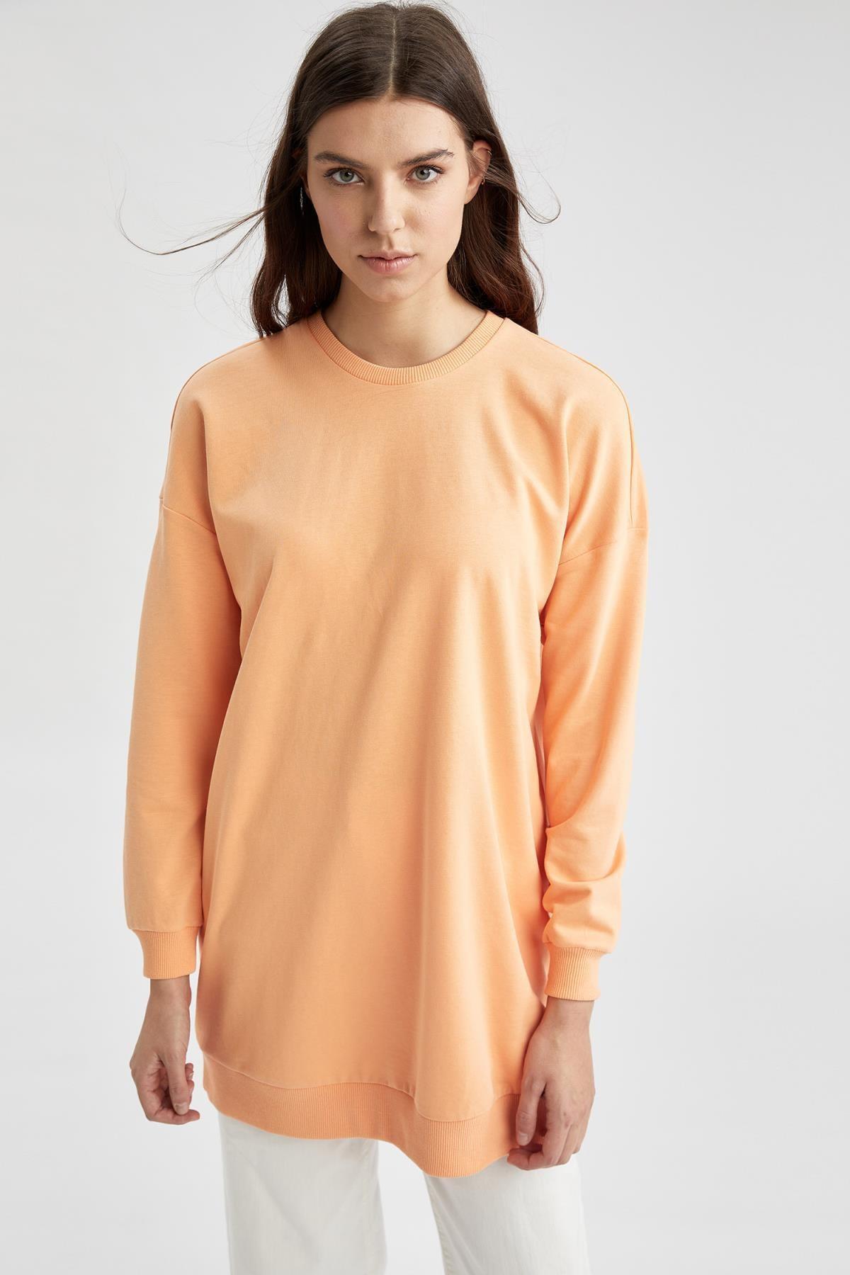 DeFacto Modest Oversize Fit Sweat Tunik
