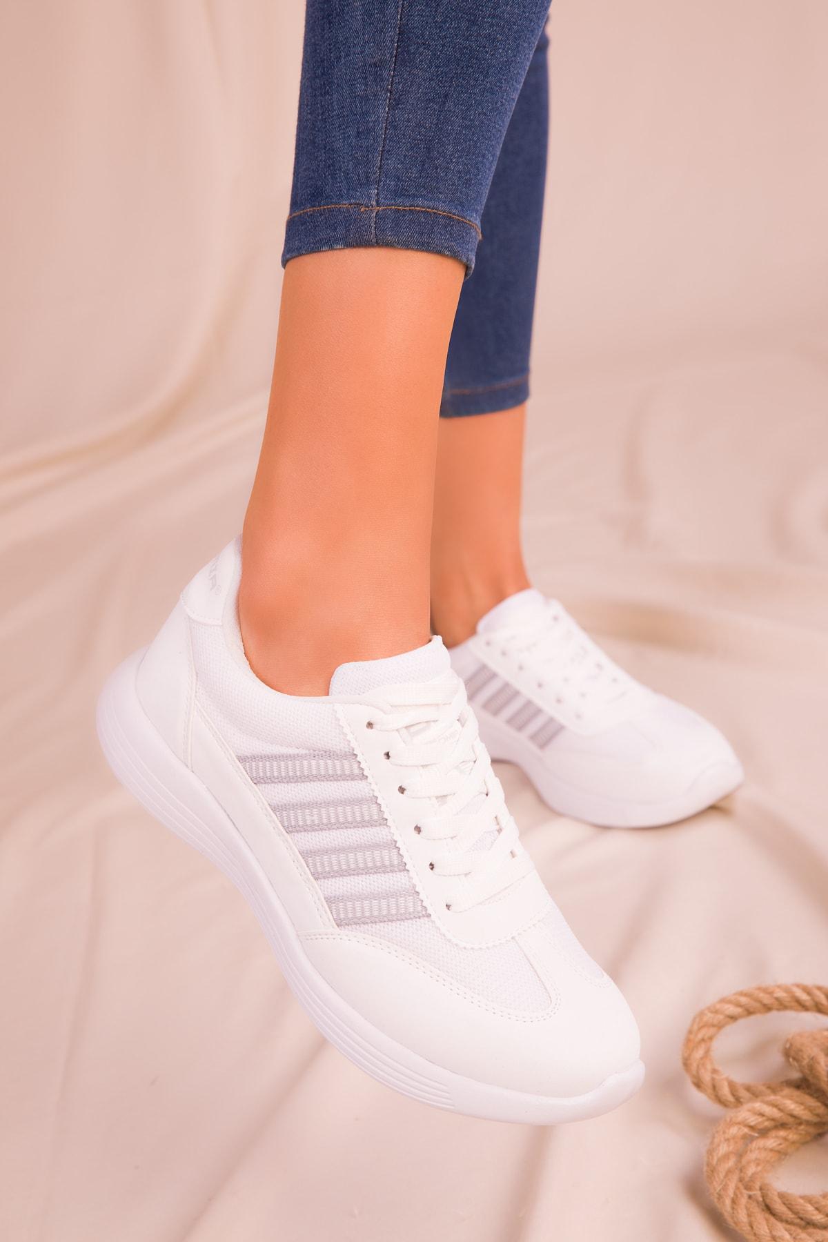 SOHO Beyaz Kadın Sneaker 14552 1