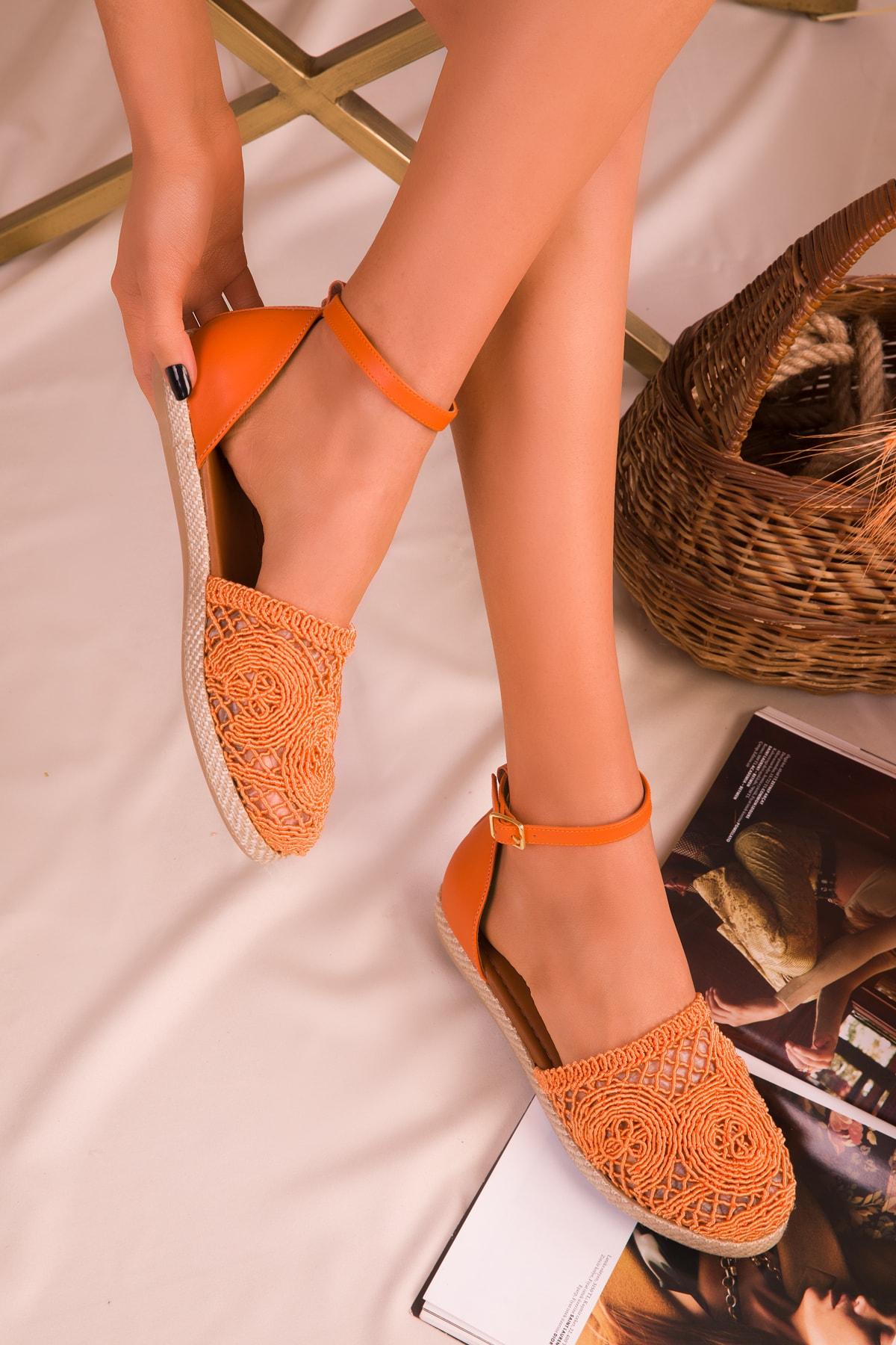 SOHO Turuncu Kadın Sandalet 15046 1