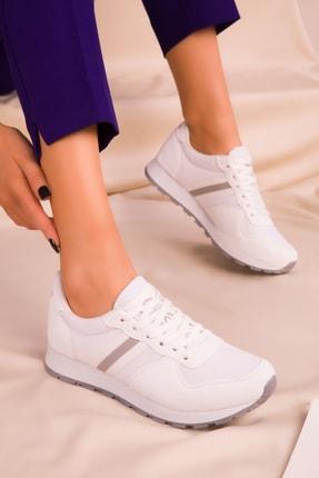 SOHO Beyaz Kadın Sneaker 15277