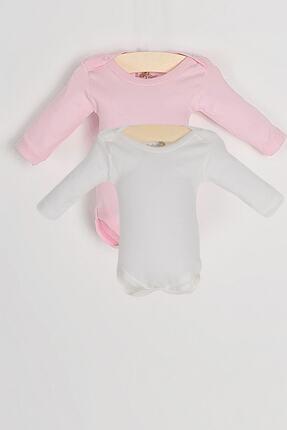 Pattaya Kids Kız Bebek Beyaz Body 2'li Takım 106