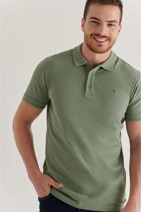 Avva Erkek Nil Yeşili Polo Yaka Düz T-shirt A11b1146