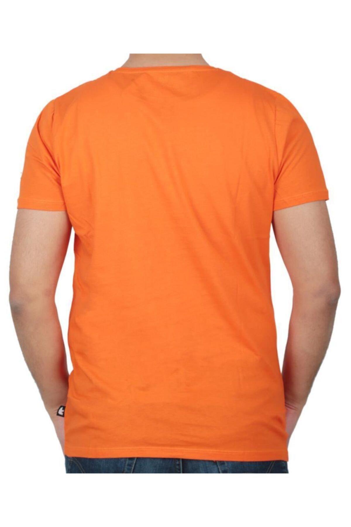 Bad Bear Erkek Turuncu Baskılı T-shirt 19.01.07.002 2