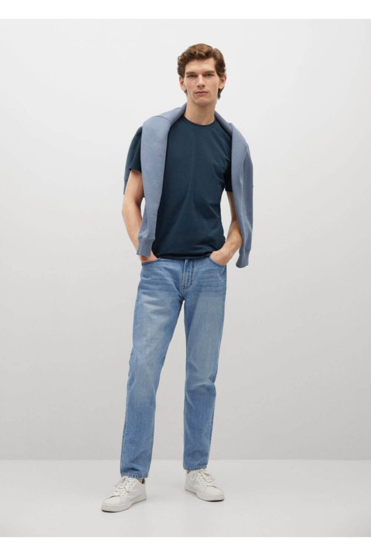 MANGO Man Pamuklu Streç Tişört 2