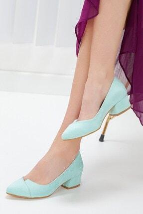 Hayalimdeki Ayakkabı Alex Turkuaz Süet Topuklu Ayakkabı