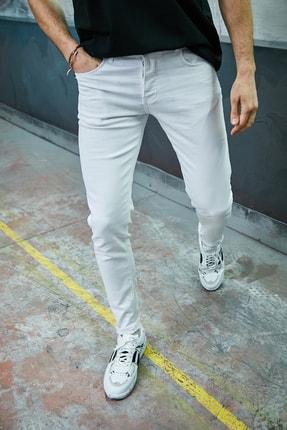Sateen Men Erkek Beyaz Slimfit Denim Pantolon