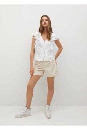 MANGO Woman Kadın Kırık Beyaz Bluz