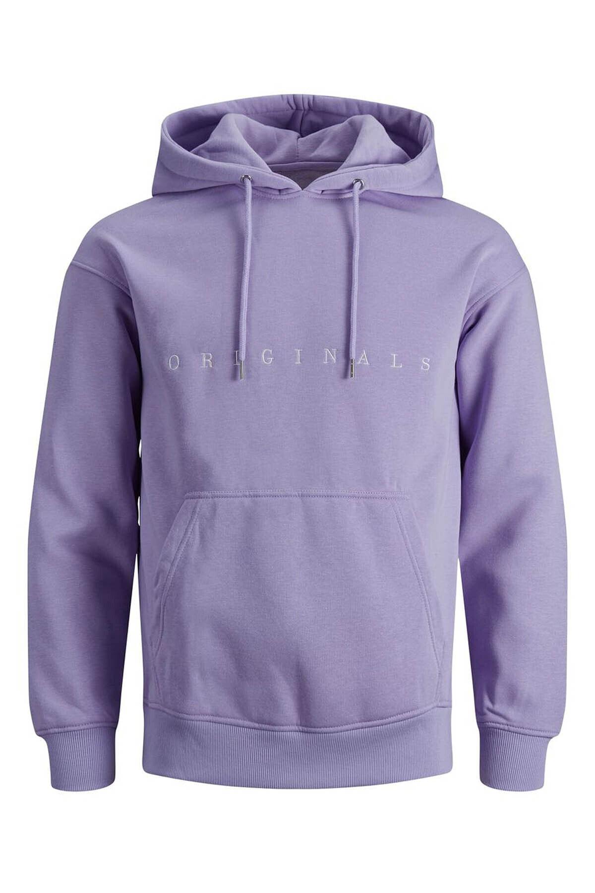 Jack & Jones Erkek Copenhagen Sweatshirt Loopback Relaxed Fıt Hoodıe - 12176864 1