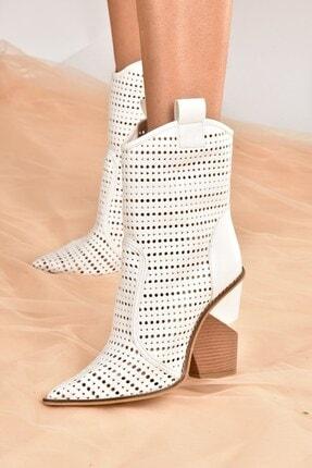 Fox Shoes Kadın Beyaz Deri Yazlık Bot K372560309