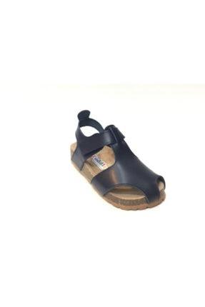 Toddler Çocuk Lacivert Doğal Deri Anatomik Mantar Taban Sandalet 8214