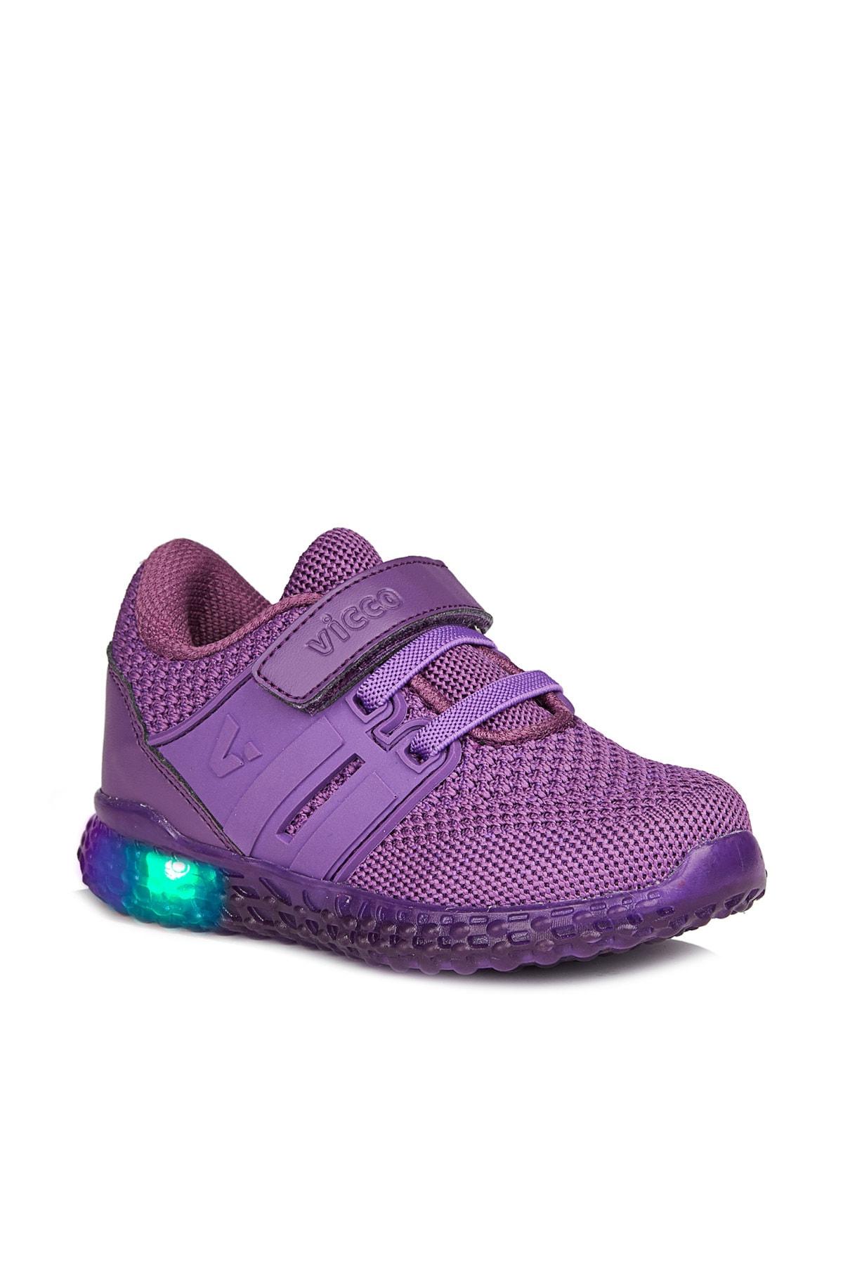 Vicco Flash Kız Bebe Mor Spor Ayakkabı 1