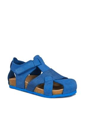 Vicco Adonis Deri Erkek Bebe Saks Mavi Sandalet