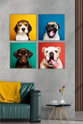 Hediyeler Kapında 4 Parça Evin Neşesi Renkli Mdf Tablo Seti