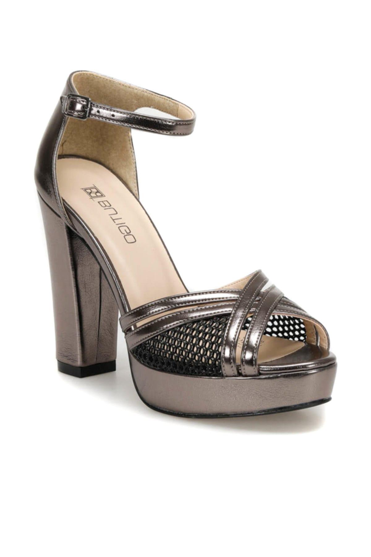 Butigo 19s-368 Antrasit Kadın Topuklu Ayakkabı 100371268 1