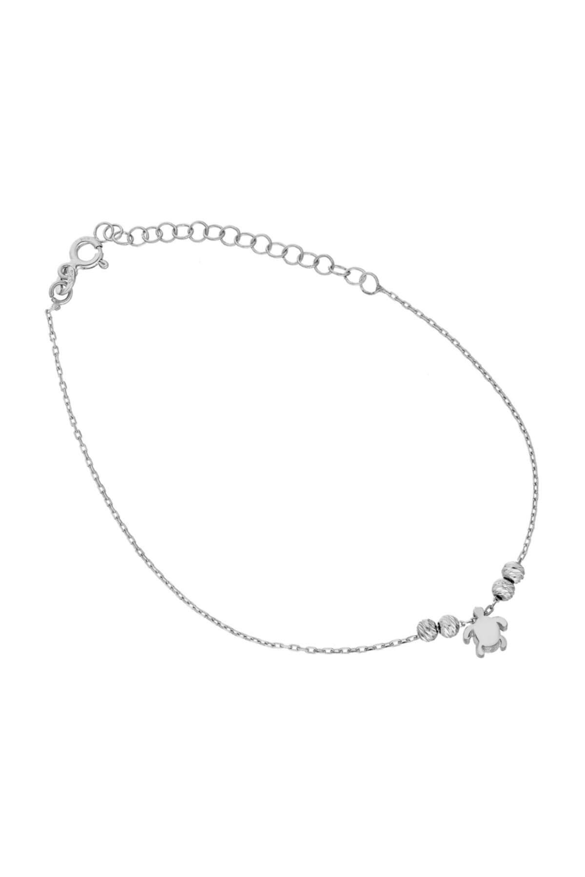 Glorria Kadın Gümüş Kaplumbağa Halhal DT0545 1