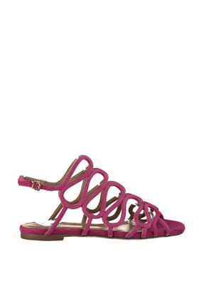 Derimod Hakiki Deri Fuşya Kadın Sandalet